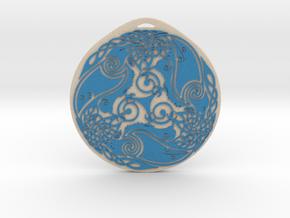 Triskelion Pendant type 1 The Three Ravens in Natural Full Color Sandstone
