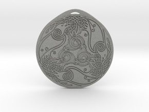 Triskelion Pendant type 1 The Three Ravens in Gray PA12