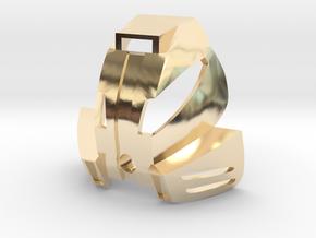 Kanohi Kakama in 14k Gold Plated Brass