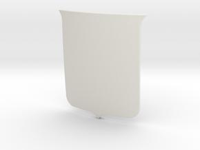 English Shield (Plain) in White Natural Versatile Plastic: Small