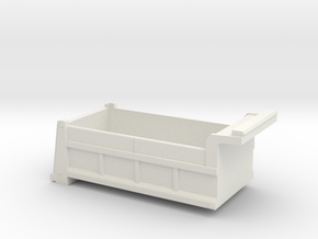 1/64 Dump Bed in White Natural Versatile Plastic