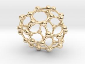 0693 Fullerene c44-65 c1 in 14k Gold Plated Brass