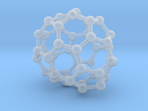 0694 Fullerene c44-66 c1 in Smooth Fine Detail Plastic