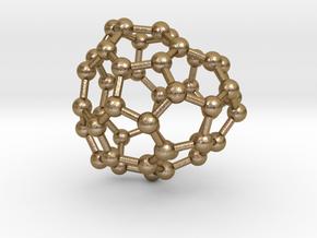 0695 Fullerene c44-67 c1 in Polished Gold Steel