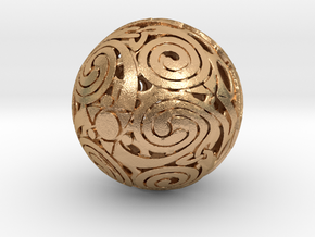 Triskelion sphere in Natural Bronze