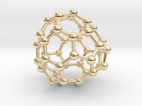 0697 Fullerene c44-69 c1 in 14k Gold Plated Brass