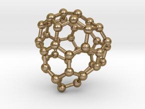 0699 Fullerene c44-71 cs in Polished Gold Steel