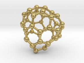 0699 Fullerene c44-71 cs in Natural Brass