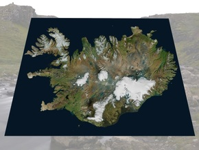"Iceland Map, 8.5""x11"": Color in Natural Full Color Sandstone"
