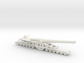 Canon de 340 mm 1/160 railway artillery  in White Natural Versatile Plastic