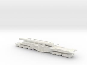 BL 18-inch Railway Gun 1/144 Boche Buster in White Natural Versatile Plastic