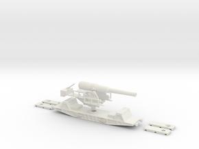 bl 9.2 mk13 railway artillery 1/76 (00) in White Natural Versatile Plastic