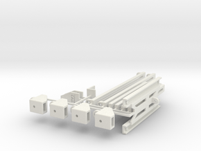 CVT TRAILER KIT FOR THE (RC4WD M-14) in White Natural Versatile Plastic