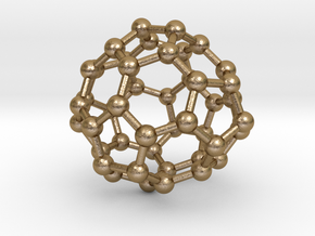 0700 Fullerene c44-72 d3h in Polished Gold Steel
