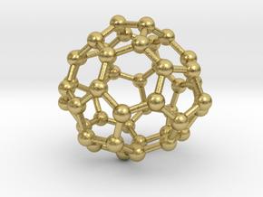 0700 Fullerene c44-72 d3h in Natural Brass