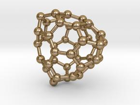 0701 Fullerene c44-73 t in Polished Gold Steel