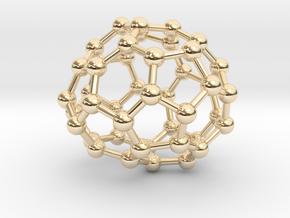 0702 Fullerene c44-74 c1 in 14k Gold Plated Brass
