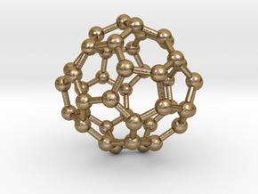 0703 Fullerene c44-75 d2 in Polished Gold Steel