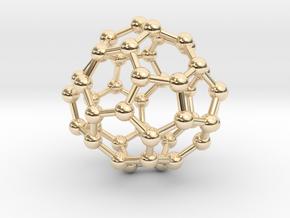 0703 Fullerene c44-75 d2 in 14k Gold Plated Brass