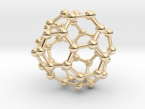0704 Fullerene c44-76 c1 in 14k Gold Plated Brass