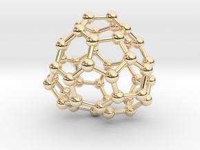 0705 Fullerene c44-77 c1 in 14k Gold Plated Brass