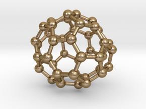 0706 Fullerene c44-78 c1 in Polished Gold Steel