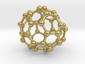 0706 Fullerene c44-78 c1 in Natural Brass