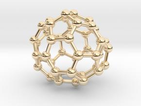 0706 Fullerene c44-78 c1 in 14k Gold Plated Brass