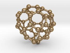 0707 Fullerene c44-79 c1 in Polished Gold Steel