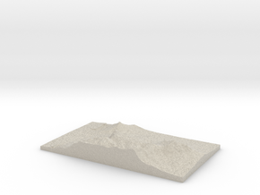 Model of India Ravine in Natural Sandstone