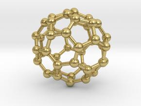 0709 Fullerene c44-81 c1     in Natural Brass