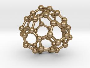 0715 Fullerene c44-87 c1 in Polished Gold Steel