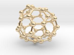 0716 Fullerene c44-88 c1 in 14k Gold Plated Brass