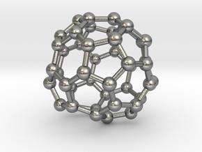 0717 Fullerene c44-89 d2 in Natural Silver