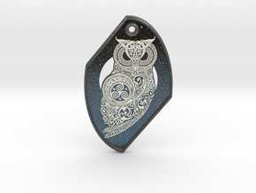 Celtic Owl Pendant in Glossy Full Color Sandstone