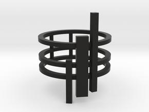 Triptyque (Size K, 50, 5 1/8, 10)  in Black Natural Versatile Plastic