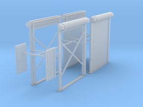 1/87th Truck Shop or Warehouse door set in Smooth Fine Detail Plastic