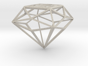 Diamond Shade Cage Lamp in Natural Sandstone