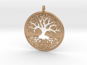 Celtic Knot Tree of life Pendant in Natural Bronze
