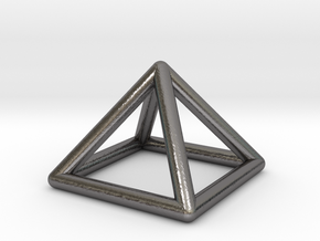 0719 J01 Square Pyramid  E (a=1cm) #1 in Polished Nickel Steel