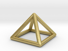 0719 J01 Square Pyramid  E (a=1cm) #1 in Natural Brass
