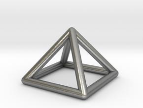 0719 J01 Square Pyramid  E (a=1cm) #1 in Natural Silver