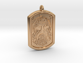 Thor  Knotwork Norse Pendant in Polished Bronze