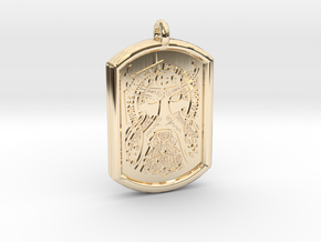 Thor  Knotwork Norse Pendant  in 14k Gold Plated Brass