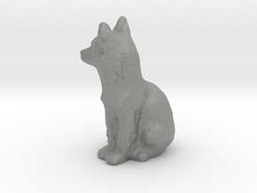 HO Scale fox in Gray Professional Plastic