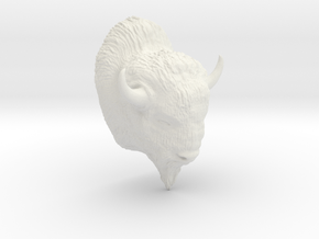 Buffalo in White Natural Versatile Plastic