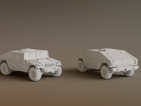 Humvee Scale: 1:160 in Smooth Fine Detail Plastic