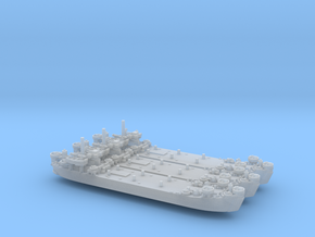 USN WW2 LST Mk2 (x3) in Smooth Fine Detail Plastic: 1:1200