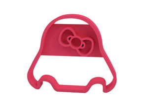 Cookie cutter in Pink Processed Versatile Plastic
