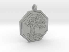 Sacred Tree of Life Octagon Pendant in Aluminum